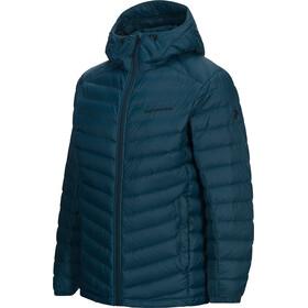 Peak Performance Frost Down Hooded Jacket Men teal